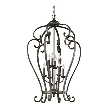 "Monroe Collection 27"" 8-Light Olde Bronze Chandelier 43167OZ"