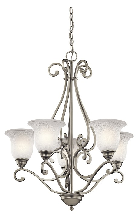 Brushed Nickel Camerena Single-Tier  Chandelier with 5 Lights - 72in. Chain Included - 27 Inches Wide