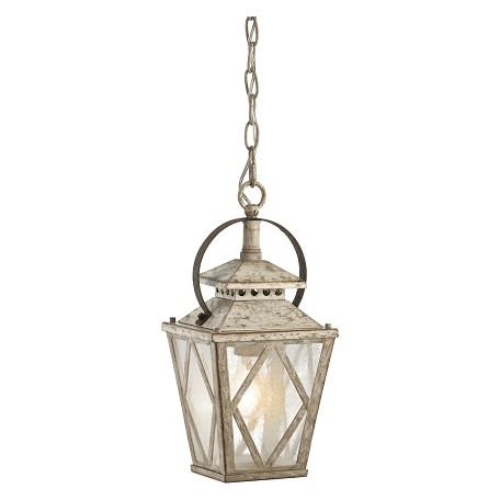 Kichler One Light Distressed Antique White Outdoor Pendant - 43246DAW