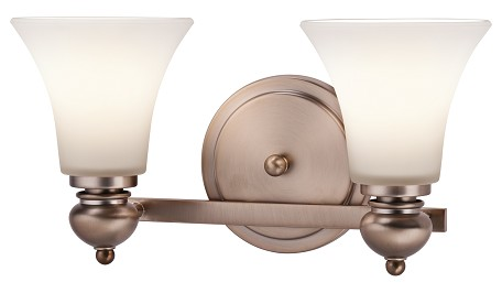 Classic Bronze Sheila 16in. Wide 2-Bulb Bathroom Lighting Fixture