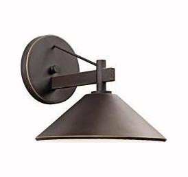 Olde Bronze Ripley Collection 1 Light 9in. Outdoor Wall Light