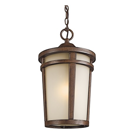Brown Stone Single Light Outdoor Fluorescent Pendant from the Atwood Collection