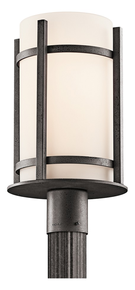 Anvil Iron Single Light Outdoor Post Light from the Camden Collection