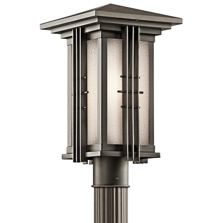 Olde Bronze Single Light Outdoor Post Light from the Portman Square Collection