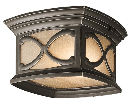 Olde Bronze Two Light Outdoor Ceiling Fixture from the Franceasi Collection