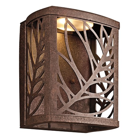 Kichler Aged Bronze Outdoor Wall Light - 49250AGZLED