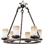 "Notre Dame Collection 6-Light 24"" Oil Rubbed Bronze Chandelier 10975WSOI"