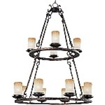 "Notre Dame Collection 12-Light 44"" Oil Rubbed Bronze Entryway Chandelier 10977WSOI"