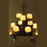 "Asiana 9-Light 36"" Roasted Chestnut Chandelier with Wilshire Glass 10986WSRC"
