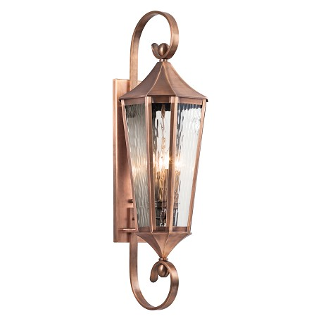 Antique Copper Rochdale Collection 4 Light 40in. Outdoor Wall Light