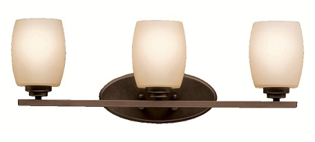 "Eileen Collection 3-Light 24"" Olde Bronze Bathbar with Umber Etched Glass 5098OZ"