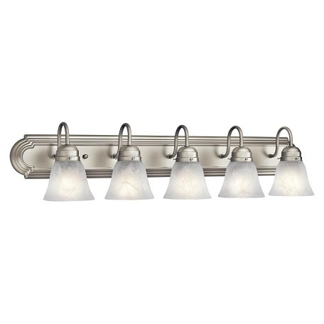 36 Vanity Light Brushed Nickel : Kichler Brushed Nickel 5 Light 36In. Wide Vanity Light Bathroom Fixture Brushed Nickel 5339NI ...