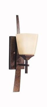 Marbled Bronze Single Light Wall Sconce from the Souldern Collection
