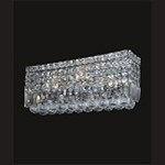 "Ibiza Design 4-Light Rectangular 18"" Chrome Bath Vanity Fixture with 30% Lead Crystal SKU# 11080"