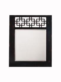 Distressed Bronze Fretwork Rectangular Mirror - 36in. x 30in.