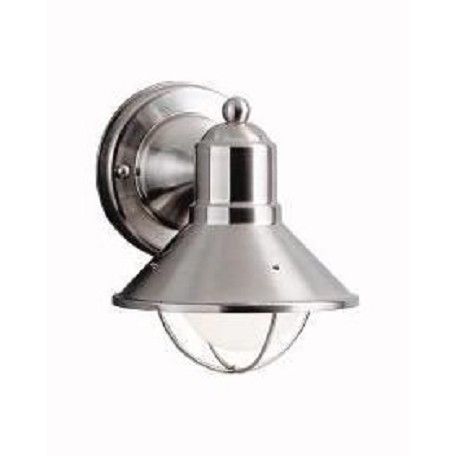 "Seaside Collection 1-Light 7"" Satin Nickel Outdoor Wall Sconce 9021NI"