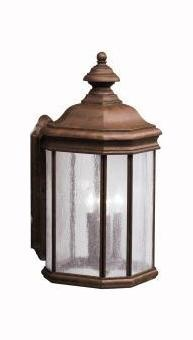 "Kirkwood Collection 3-Light 21"" Tannery Bronze Outdoor Wall Lantern 9030TZ"