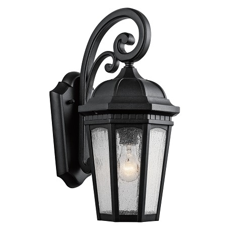 Kichler One Light Textured Black Hanging Lantern - 9033BKT