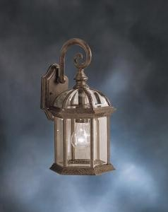 "Barrie Collection 1-Light 15"" Tannery Bronze Outdoor Wall Lantern with Clear Glass 9735TZ"