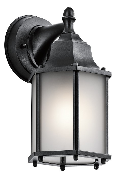 Black Chesapeake Collection 1 Light 10in. Outdoor Wall Light