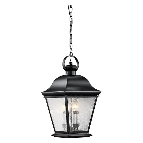 Black Mount Vernon 4 Light Outdoor Pendant