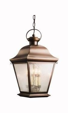 Kichler Four Light Olde Bronze Hanging Lantern - 9804OZ
