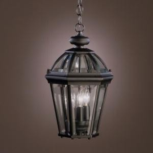 Kichler Three Light Black (painted) Hanging Lantern - 9851BK