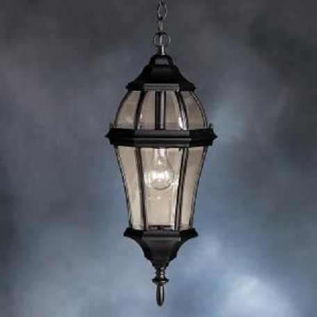 Black 1 Light Outdoor Pendant from the Townhouse Collection