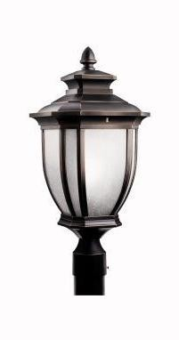 Kichler One Light Rubbed Bronze Post Light - 9938RZ