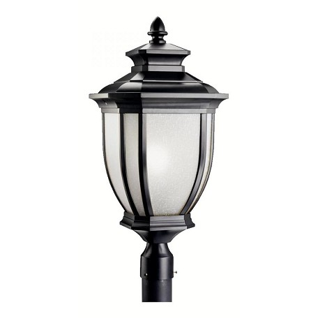 Black 1 Light Post Light from the Salisbury Collection