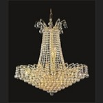 "Flamingo Design 11-Light 24"" Gold or Chrome Chandelier with European or Swarovski Crystals  SKU# 11111"