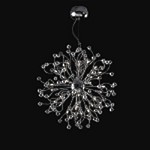 "Lunasphere Design 32-Light 29"" Polished Chrome Crystal Hanging Pendant SKU# 11170"