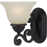 "Symphony Collection 1-Light 7"" Oil Rubbed Bronze Wall Sconce with Soft Vanilla Glass 11230SVOI"
