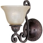 "Symphony Collection 1-Light 7"" Oil Rubbed Bronze Wall Sconce with Screen Amber Glass 11246SAOI"