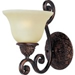 "Symphony Collection 1-Light 7"" Oil Rubbed Bronze Wall Sconce with Soft Vanilla Glass 11246SVOI"