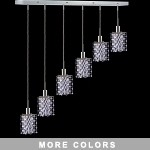 "Hollywood Design 6-Light 40"" Linear Star Adjustable Pendants  30% Lead or Swarovski Spectra Crystal SKU# 11492"