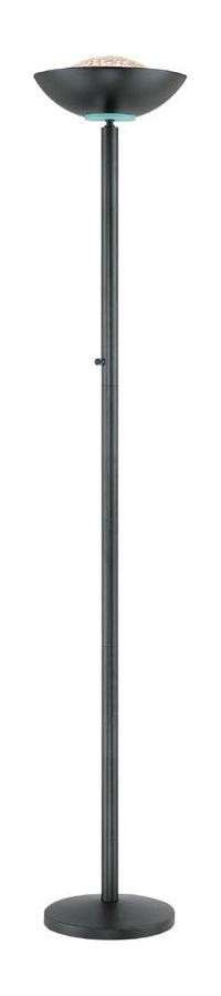 "Basic II Collection Energy Saving 72"" Black Torchiere Lamp"