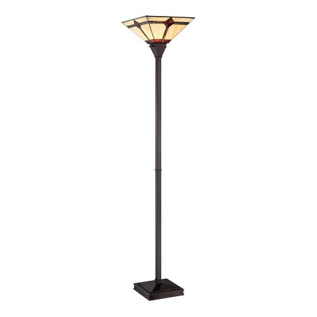 "Karysa Collection 71"" 1-Light Dark Bronze Torchiere Lamp LS-82041"