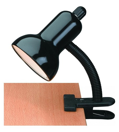 "Clip-On Collection 12"" 1-Light Black Clip-On Lamp LSF-111BLK"