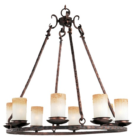 "Notre Dame Collection 8-Light 30"" Oil Rubbed Bronze Chandelier 10976WSOI"
