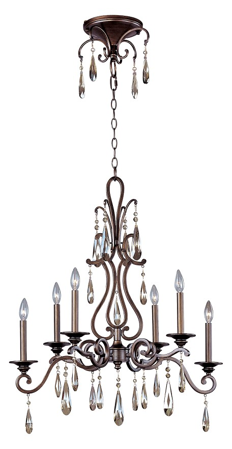 Six Light Heritage Up Chandelier