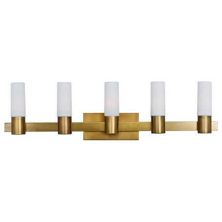 Maxim Five Light Natural Aged Brass Vanity - 22415SWNAB