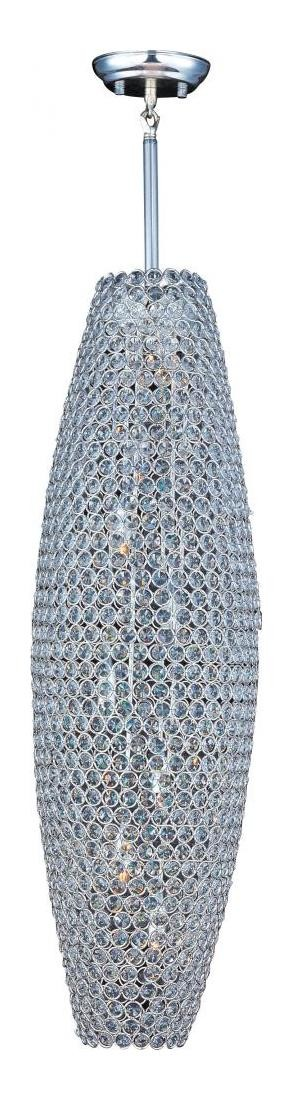 Maxim 39883bcps Eight Light Plated Silver Beveled Crystal