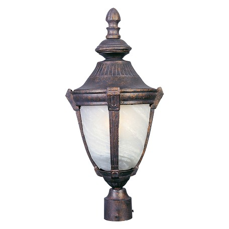 "Wakefield Collection 1-Light 26"" Empire Bronze Outdoor Pier/Post Mount with Marble Glass 4030MREB"