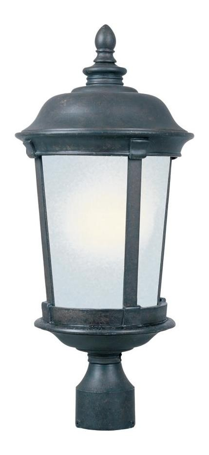 "Dover Energy Efficient Collection 1-Light 25"" Bronze Outdoor Post Mount Lantern 85092FSBZ"