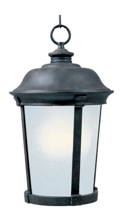 "Dover Energy Efficient Collection 1-Light 20"" Bronze Outdoor Hanging Lantern 85099FSBZ"