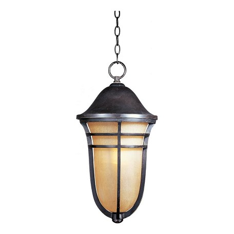 "Westport Collection 1-Light 10"" Artesian Bronze Outdoor Hanging Light with Mocha Cloud Glass 85407MCAT"