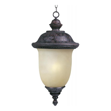 "Carriage House Collection 1-Light 12"" Oriental Bronze Outdoor Hanging Light with Mocha Glass 85527MOOB"