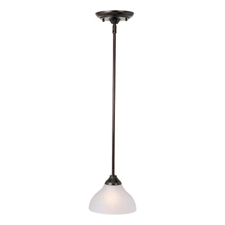 "Contour Collection 1-Light 7"" Oil Rubbed Bronze Mini Pendant with Frosted Glass 92260FTOI"