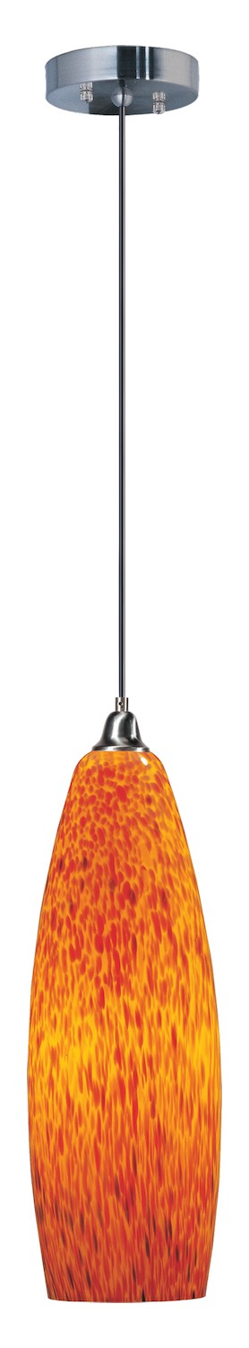 Polished Chrome 1 Light 6in. Wide Pendant from the Hue Collection
